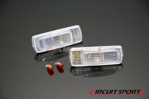 Front Side Markers (Clear) - Nissan 240SX/180SX/Silvia ('89-94 S13)