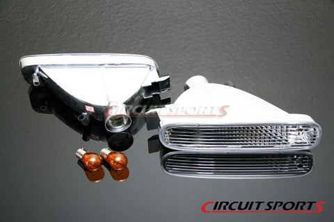 Front Turn Signals (Clear) - Nissan 240SX/Silvia ('95-96 S14 Zenki, JDM Only)