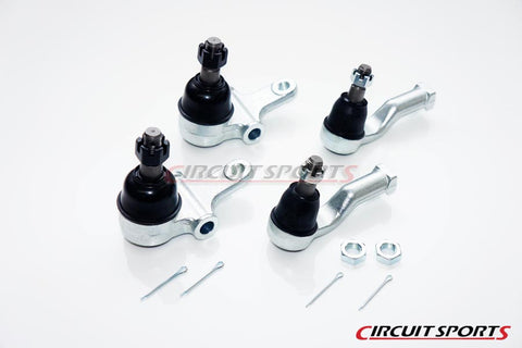 Extended Lower Ball Joints and R Package Tie Rod Ends Combo - Mazda Miata MX5 NA/NB 1990-2005