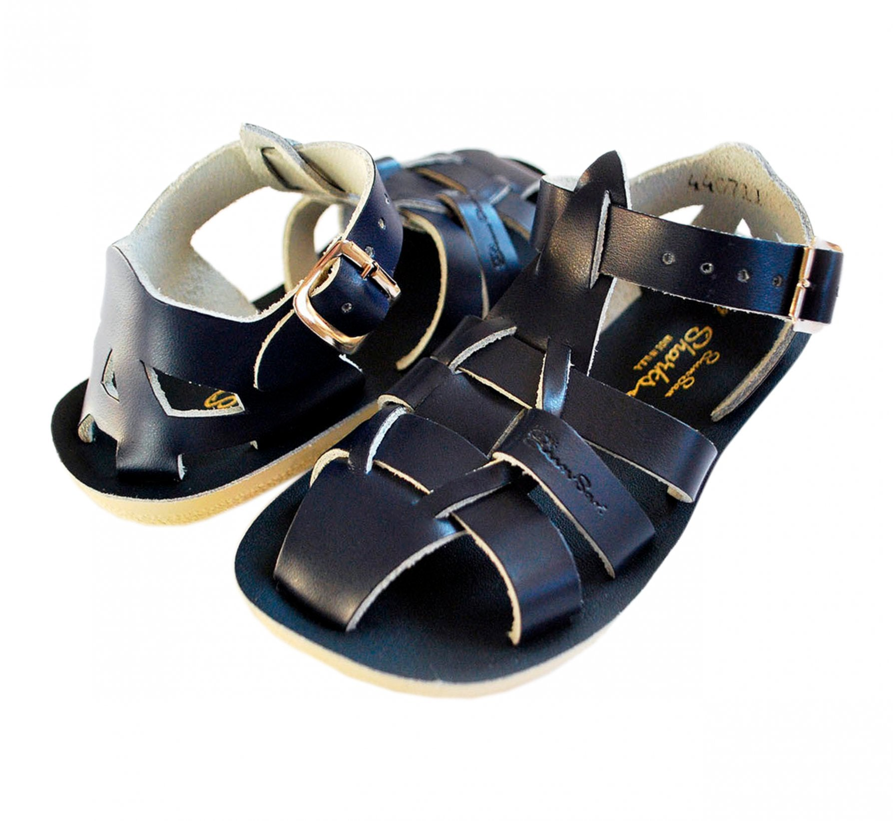 Salt-Water Shark Boys Navy Sandals