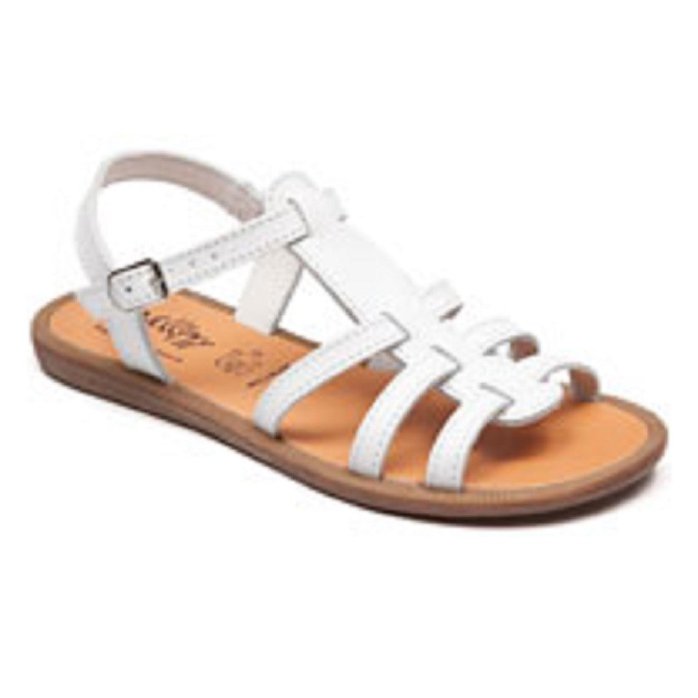 Bellamy Elisa White Gladiator Style Sandals