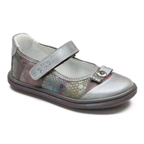 Bellamy Fram Metallics Pewter Velcro Shoes