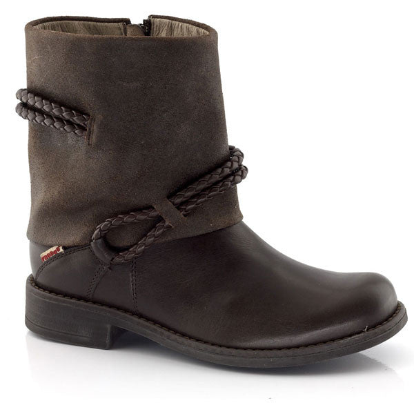 Froddo Brown Rope Detail Ankle Boots