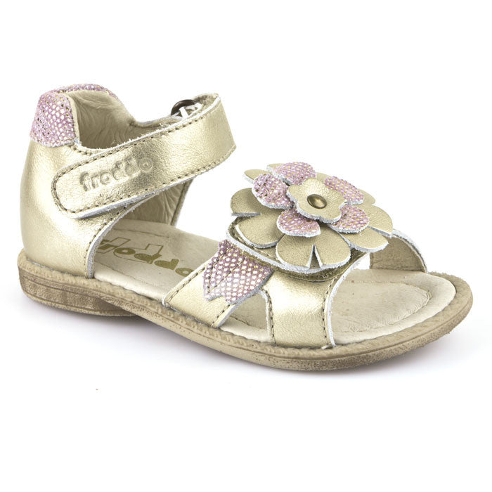 Froddo Girls G2150056-3 Gold Velcro Sandals
