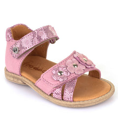 Froddo G2150066 Flower Studded Applique Pink Sandals