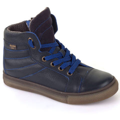 Frodo G3110086 Lace & Zip Navy Blue Boots