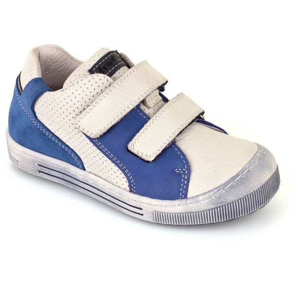 Froddo G3130092 White & Blue Velcro Pump Style Shoes