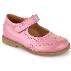 Froddo G3140058 Brogue Stitch Down Velcro Pink Shoes