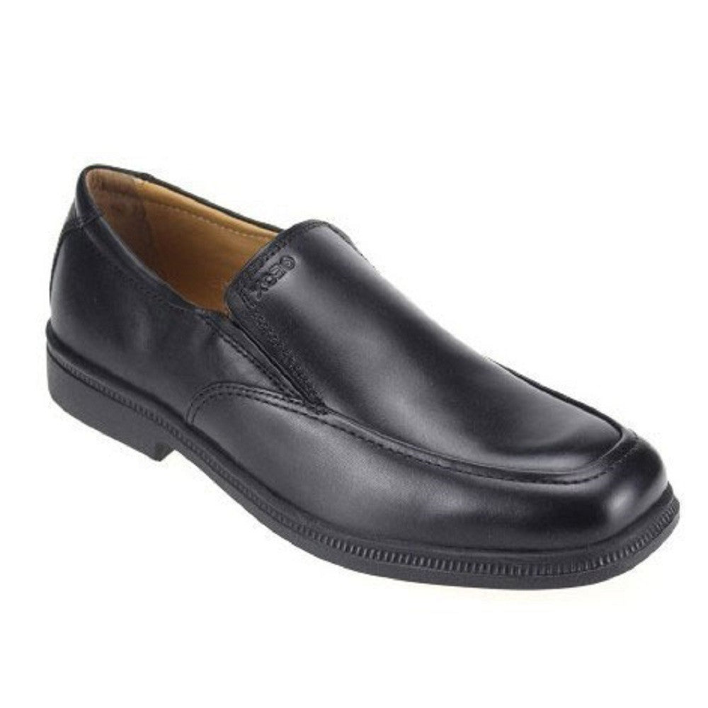 Geox J Federico Black Slip On School Shoes