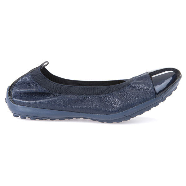 Geox J Piuma Navy Blue Ballerina Shoes