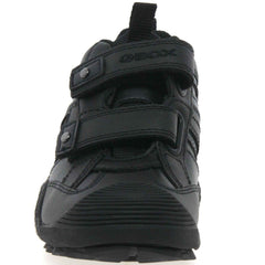 Geox J Savage Black Velcro School Shoes
