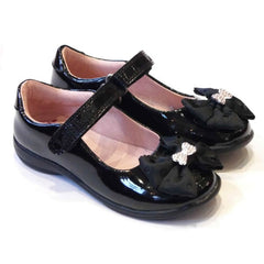 Lelli Kelly LK8316 Priscilla Black Patent Velcro School Shoes