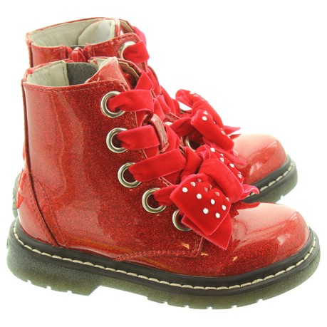 Lelli Kelly LK6522 Fior Di Fiocco Girls Red Patent Boots
