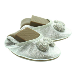 Lelly Kelly LK4102 Magiche Fiocco Girls Silver Shoes