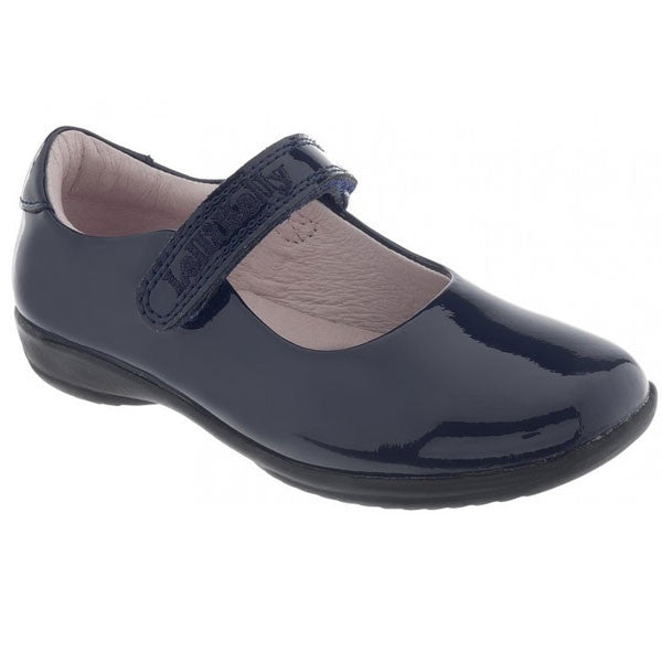 Lelli Kelly LK8218 Classic Black Patent Velcro School Shoes
