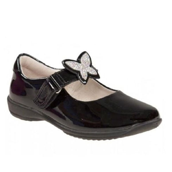 Lelli Kelly LK8305 Angel Black Patent Velcro School Shoes