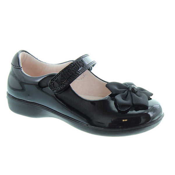 Lelli Kelly LK8311 Tallulah Black Patent Velcro School Shoes