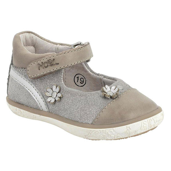 Noel Mini Aby Beige Glitter Velcro Shoes
