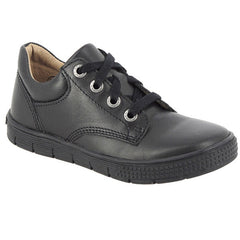 Noel Vack Black Lace School Shoes