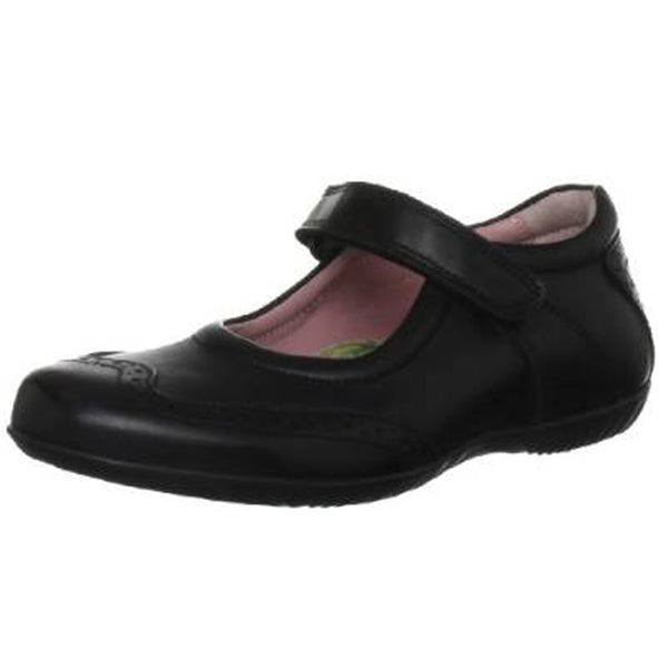 Petasil Expo 3 Black Velcro School Shoes