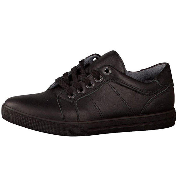 Ricosta Ray Black Lace School Shoes