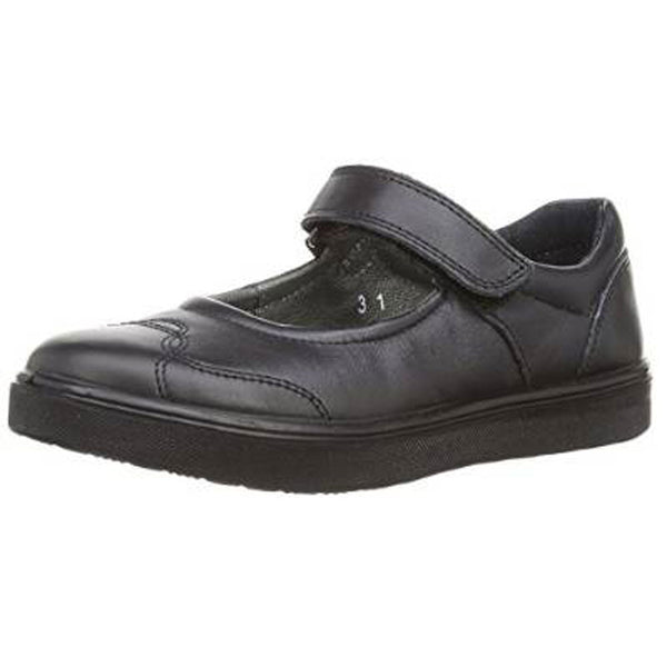 Ricosta Anthea Black Velcro School Shoes
