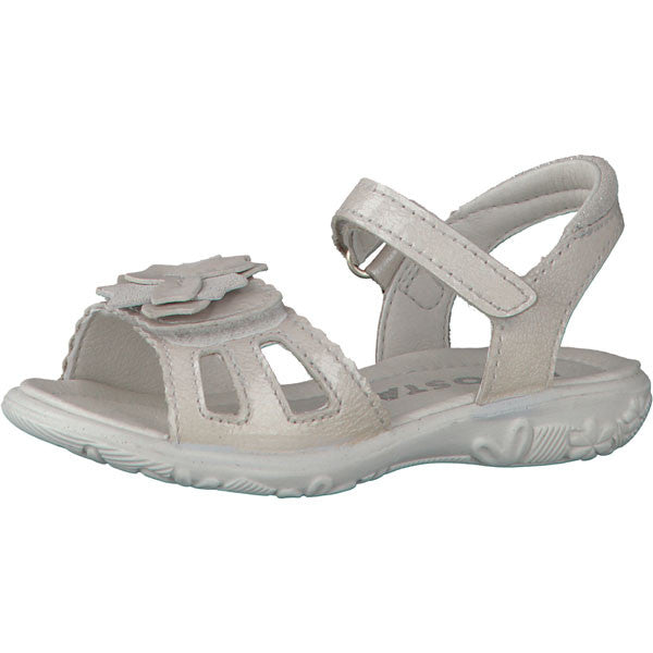 Ricosta Gundi Pearlescent White Double Velcro Sandals