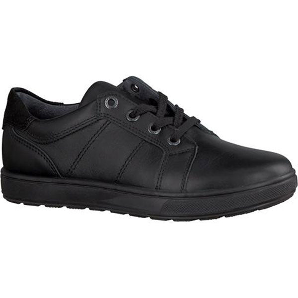 Ricosta Roy Black Lace School Shoes