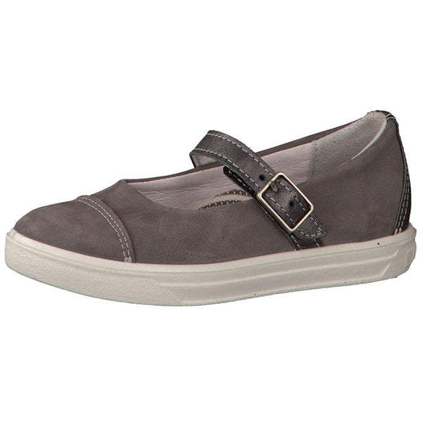 Ricosta Tiffany Simple Grey Velcro Shoes