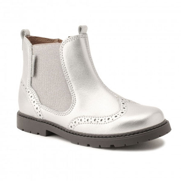 Start-rite Silver Chelsea Ankle Boots