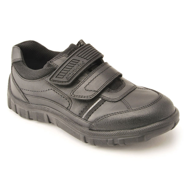 Start-rite Luke Black Velcro School Shoes