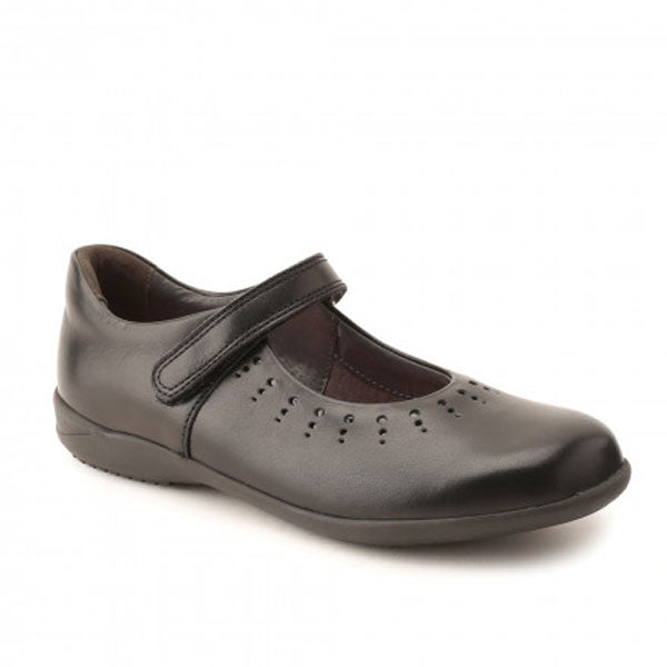 Start-rite Mary Jane Black Velcro School Shoes