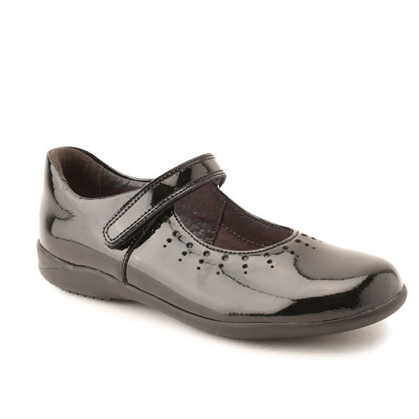 Start-rite Mary Jane Black Patent Velcro School Shoes