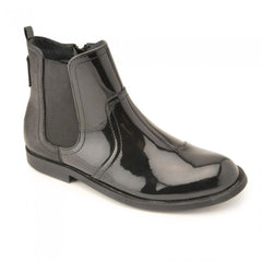 Start-rite Equestrian Black Patent Ankle Boots