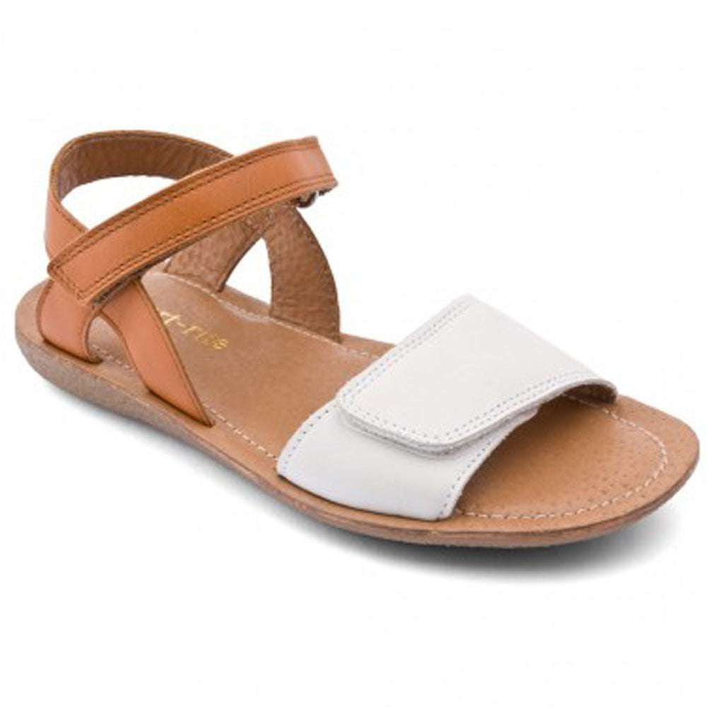 Start-rite Vanda White & Tan Velcro Sandals