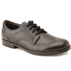 Start-rite Brogue Black Lace School Shoes