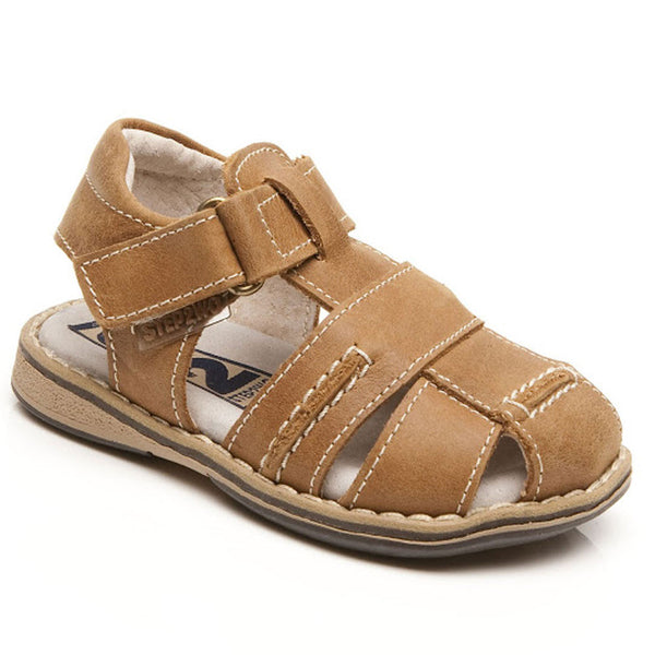 Step2wo Mini Oscar Tan  Closed Toe Sandals