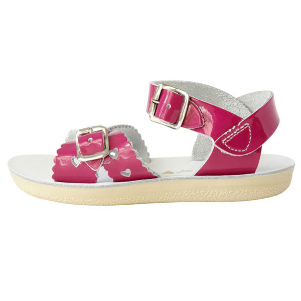 Salt-Water Sweetheart Pink Patent Sandals