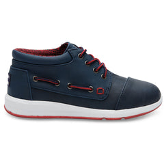 TOMS Bimini Navy & Red Ankle Boots