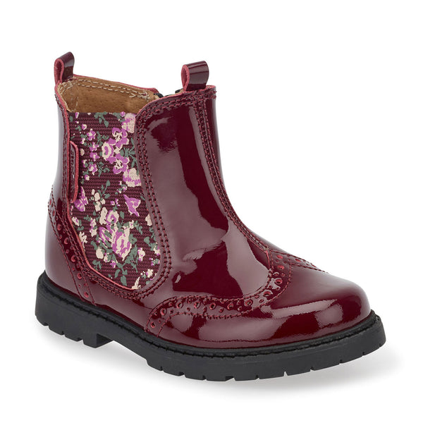 Startrite Chelsea Wine Patent Boots