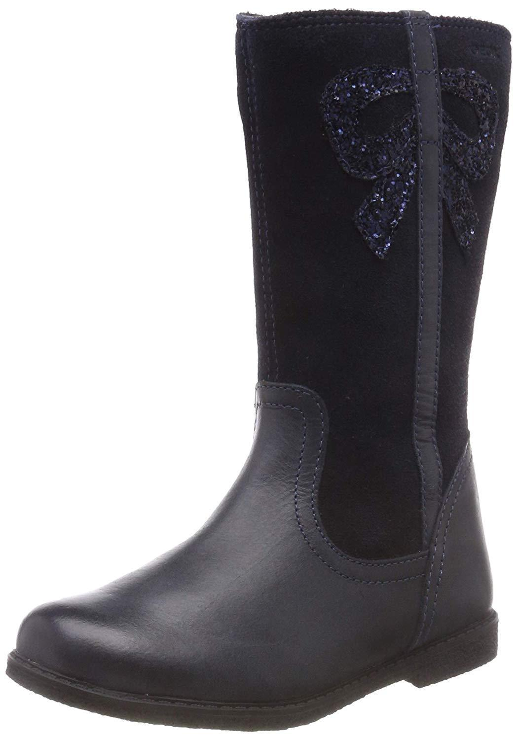 Geox Shawntel Girls Navy Boots