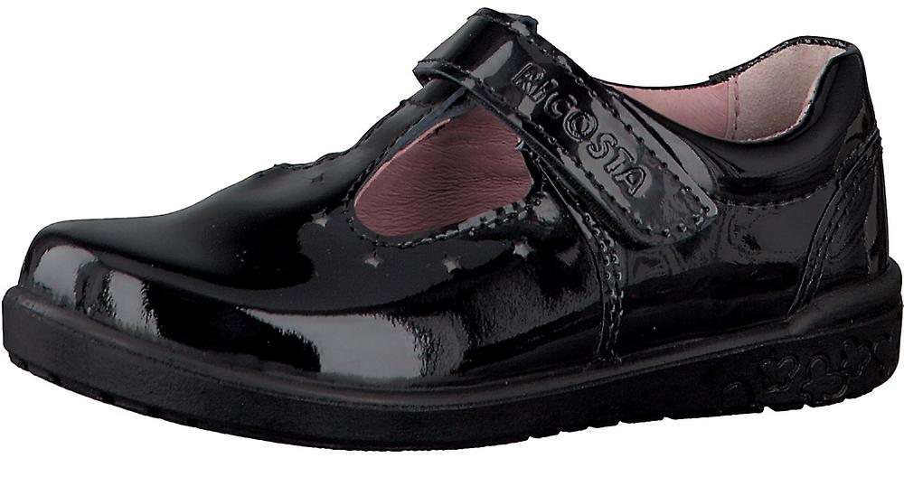 Ricosta Scarlett Girls Black School Shoes