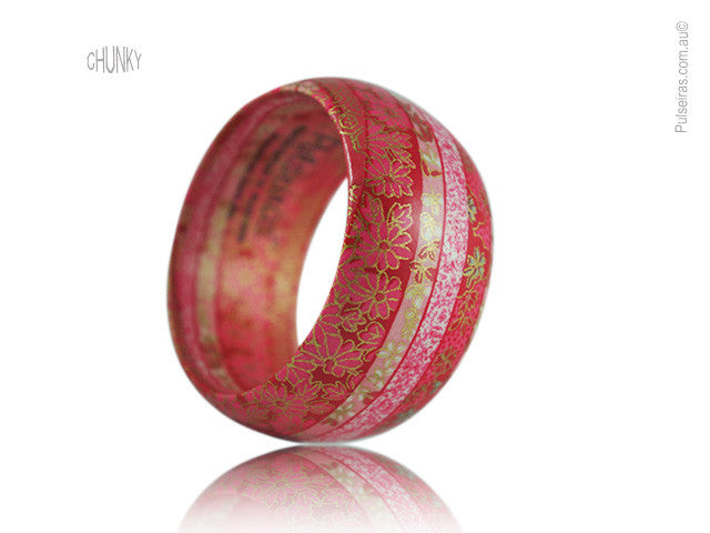 Red & Pink Ribbon EcoBangle™