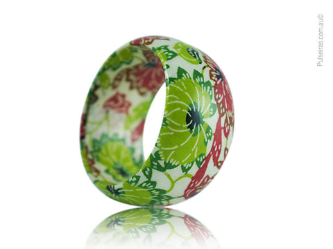 Green & Red Lotus Flower EcoBangle™