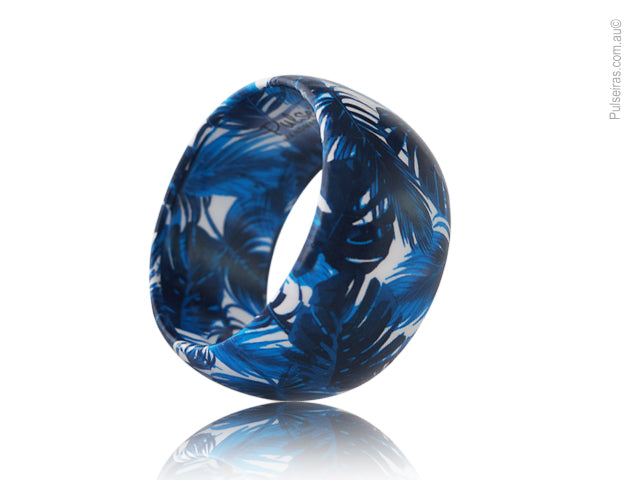 Vintage Midnight Blue Palm EcoBangle™
