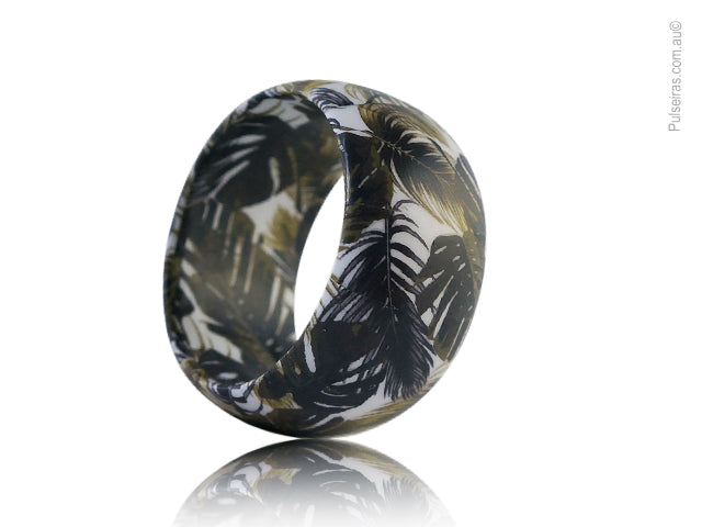 Vintage Grey Palm EcoBangle
