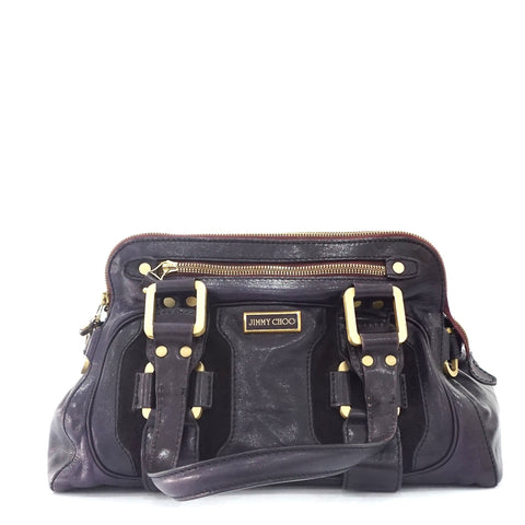 Jimmy Choo Dark Purple Craft Bag