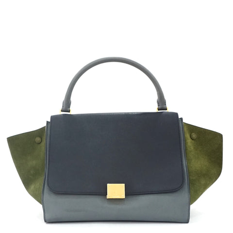 Celine Trapeze Navy-Grey-Olive Bag