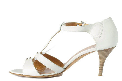 Hermes Brand New White Strappy Sandal 37