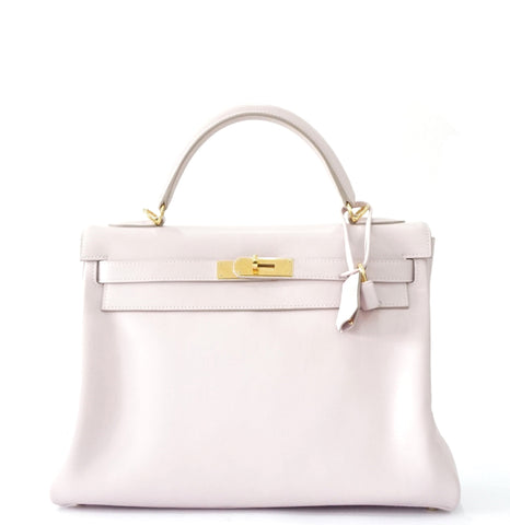 Hermes Kelly 32 Rose Dragee Swift GHW